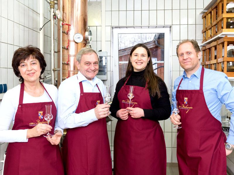 Das Team der Freiherr von Poschinger Edelbrandmanufaktur in Frauenau