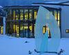 Glaskunstwerk in den Gläsernen Gärten beim Glasmuseum Frauenau