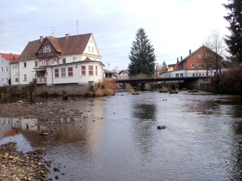 Der Kleine Regen (rechts im Bild) beim Zusammenfluß mit dem Großen Regen in Zwiesel