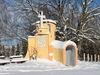 Blick auf die St. Hermann-Kapelle auf der Zell in Frauenau im Winter