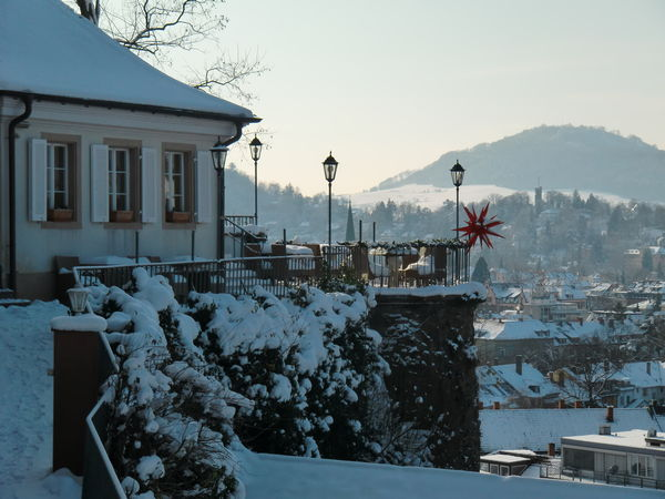 Freiburg Schlossberg in winter