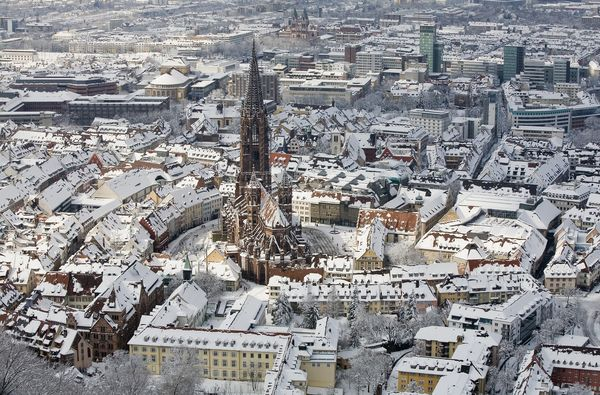 Freiburger Münster Winter