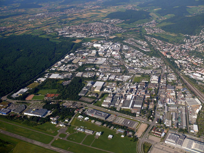 Aerial photo Green Industry Park Freiburg North