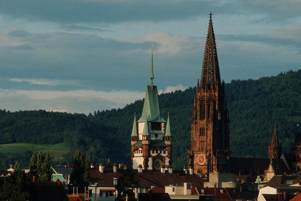 Freiburg Muenster und Martinstor