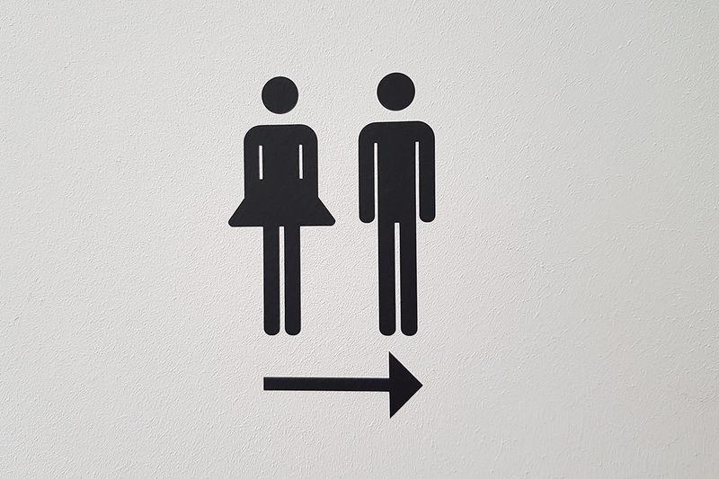 Panneau de toilettes
