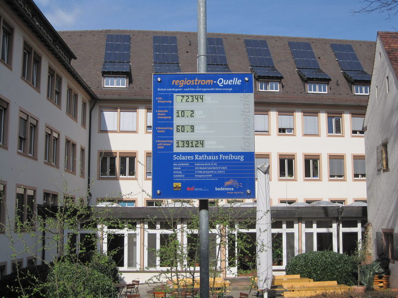 Solares Rathaus Freiburg