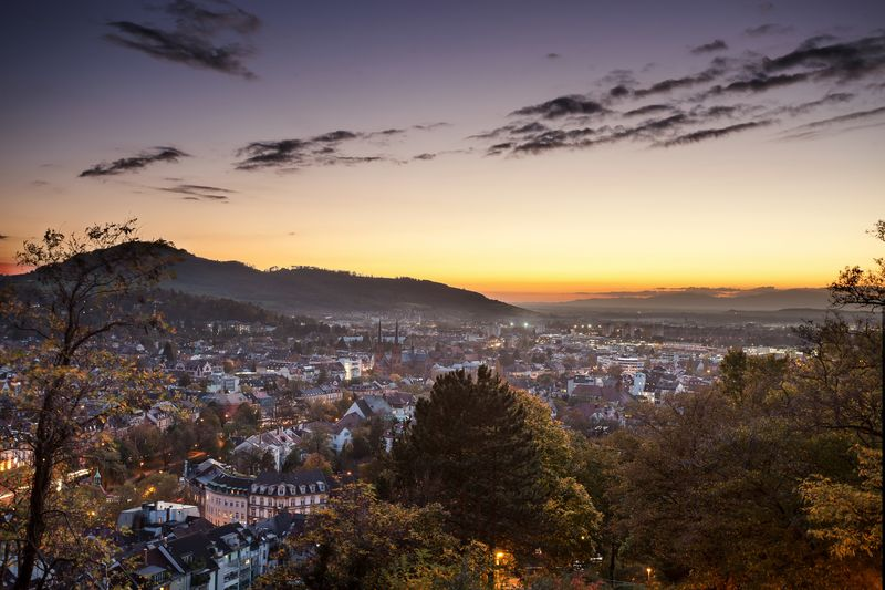 View over Freiburg from the Schlossberg