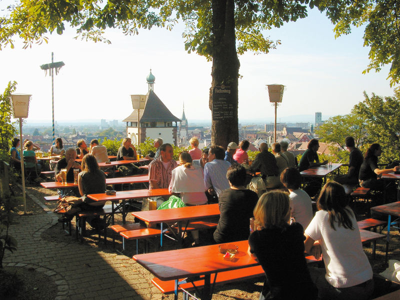 Beer garden at the Schlossberg