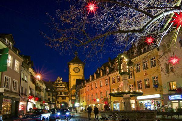 Freiburg Schwabentor Christmas decoration