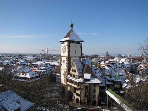 Friburgo Schwabentor in inverno