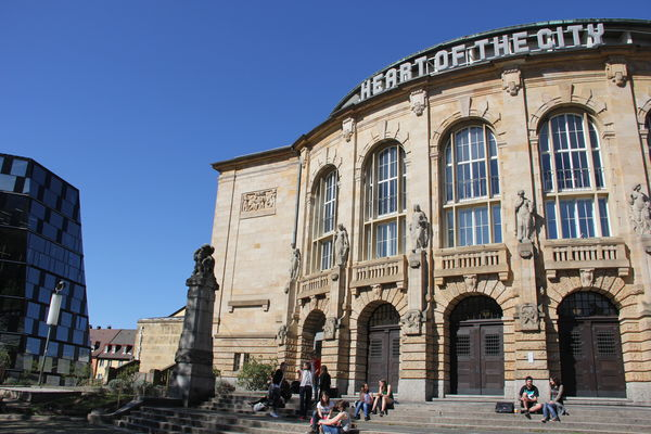 Freiburg university library and Theater