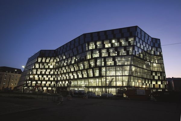New University Library by night