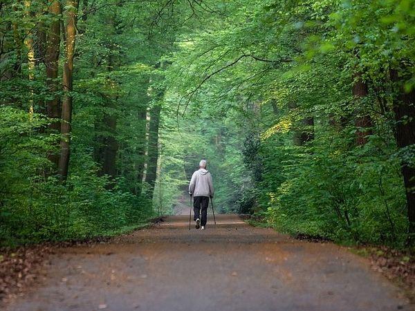 Nordic Walking auf dem AOK parcour in Freising