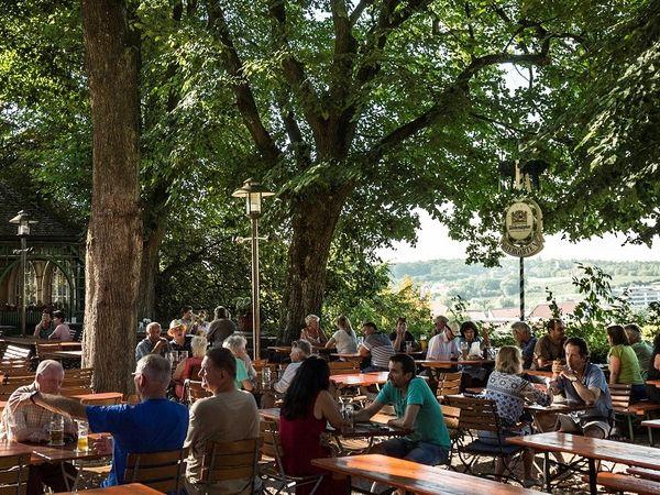 Biergarten vom Bräustüberl Weihenstephan in Freising