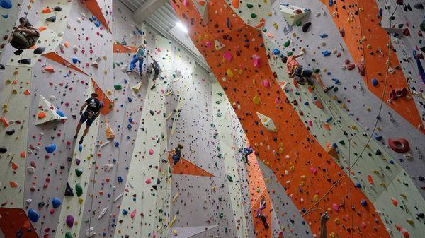 Kletterhalle im Kletterzentrum Freising