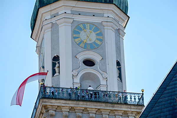 Pfarrturm der Stadtkirche St. Georg in Freising