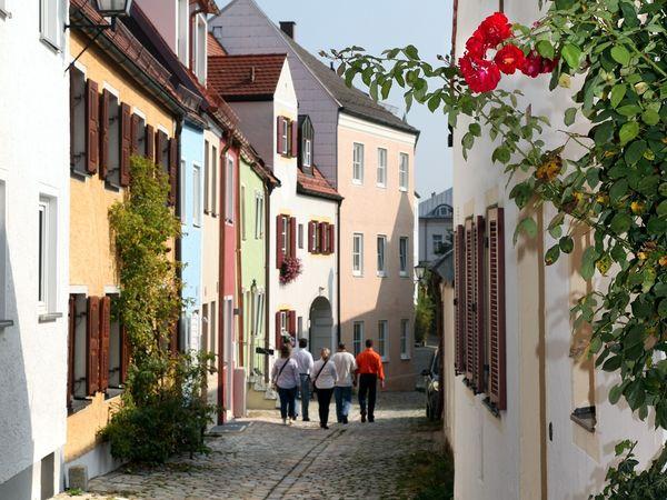 Spaziergängen am Mittleren Graben in Freising