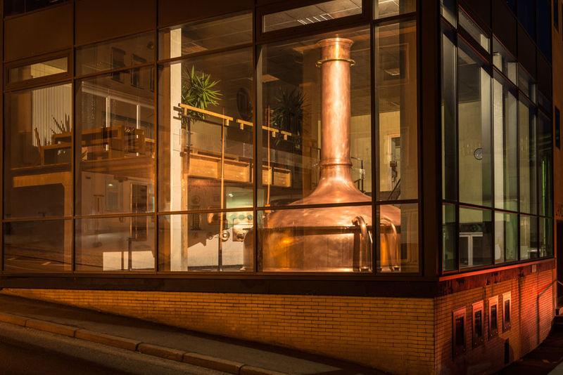 Der Sudkessel der Brauerei Lang-Bräu in Freyung