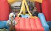 Hüpfburg auf dem traditionellen Freyunger Bürgerfest