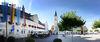 Der Markt Frontenhausen mit der Pfarrkirche St. Jakob