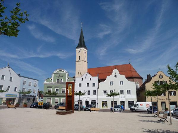 Die spätgotische Pfarrkirche St. Jakob in Frontenhausen