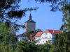 Blick auf die Pfarrkirche ST. JOHANNES BAPTIST in Fürsteneck im Ilztal und Dreiburgenland