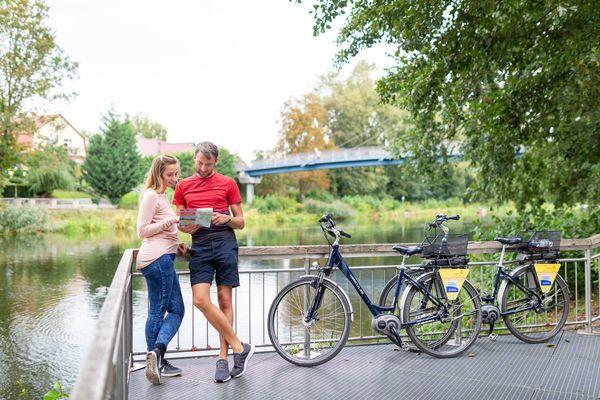 Radfahren bei Fürstenwalde , Foto: Florian Läufer, Lizenz: Seenland Oder-Spree