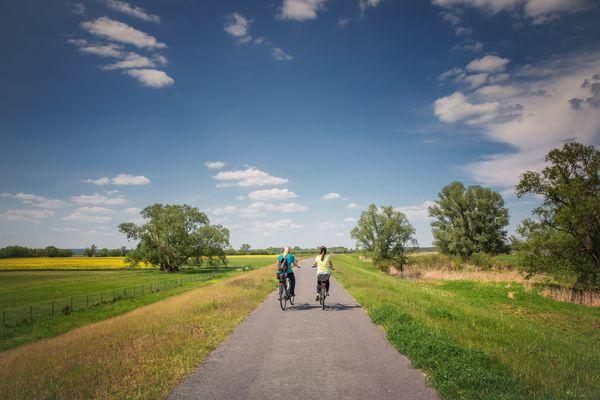Radfahrer im Seenland Oder-Spree, Foto: Florian Läufer