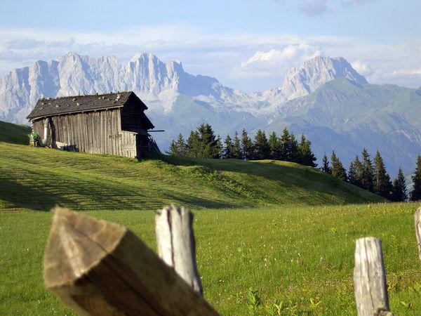 Furnerberg im Hintergrund der Rätikon