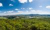 Blick in die Berge des Bayerischen Waldes von der Bayernwarte bei Furth im Wald