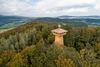 Auf dem Dieberg nahe Furth im Wald erhebt sich die Bayernwarte