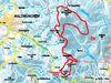 Streckenverlauf der Cerchov-Loipe
