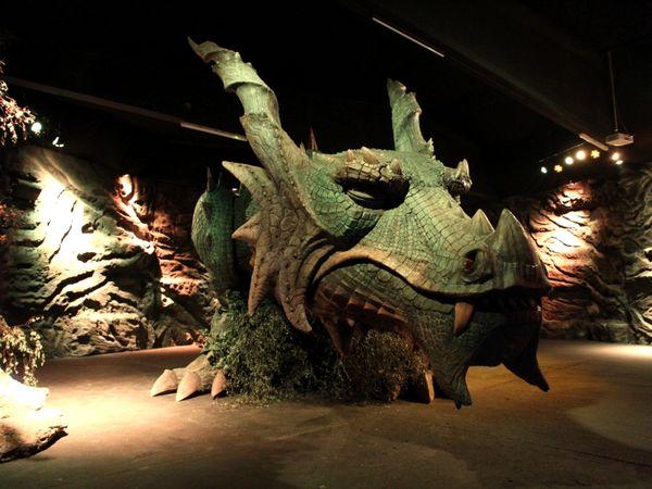 Der schlafende Drache in seiner Drachenhöhle in Furth im Wald