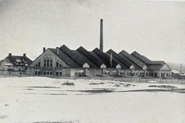 Die Spiegelglasfabrik Furth im Wald in früheren Zeiten