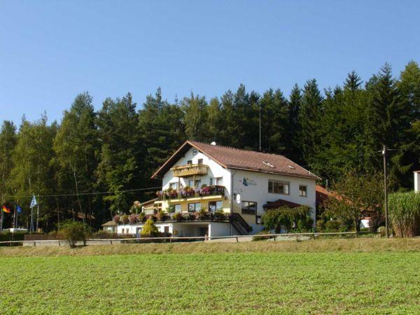 Blick auf das Hotel-Pension Waldesruh in herrlicher Waldrandlage bei Furth im Wald