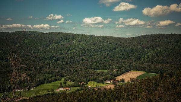 Wunderbarer Panoramablick vom Aussichtsturm am Klammerfels