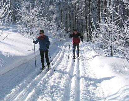 Winterwandern im Langlaufgebiet Gibacht-Čerchov-Voithenberg