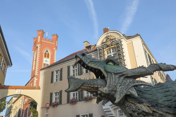 Der Further Drache am Stadtplatz