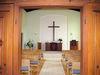 Innneraum der Radfahrerkirche in Gaggenau-Hörden