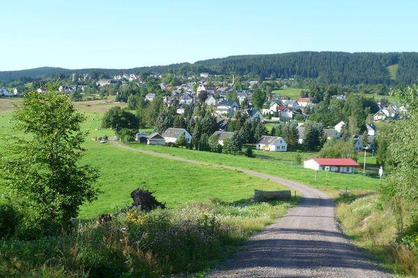 Ortsansicht von Gehlberg in der Ferienregion Oberhof