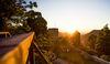 Burgruien Helfenstein im Sonnenuntergang
