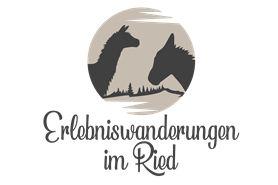 Logo mit Alpakas und Eseln