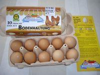 Eier aus Bodenhaltung