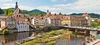 Altstadt, Murgpartie, Stadtbrücke, Brückenmühle in Gernsbach im Murgtal
