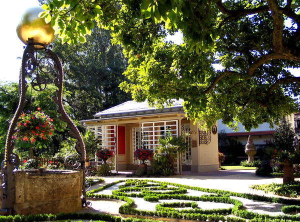 Katz´scher Garten in Gernsbach mit Pavillon und Brunnen