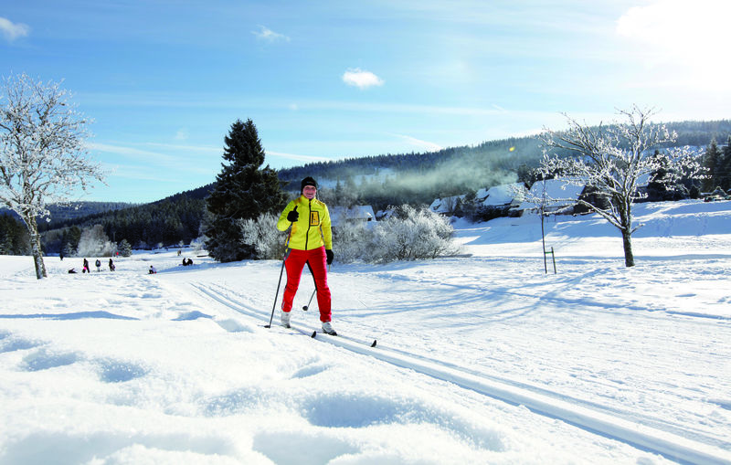 Skilangläuferin in Forbach-Herrenwies