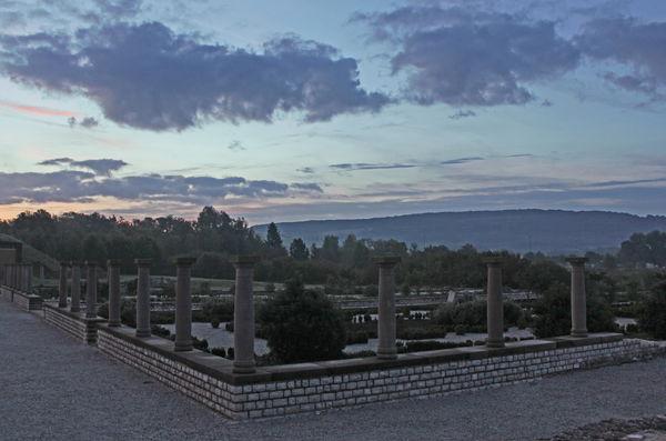 Morgenstimmung an der Römervilla im Europäischen Kulturpark Bliesbruck-Reinheim