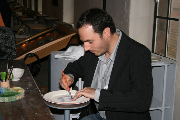 Drehen der Keramik im Museum