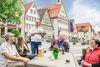 Giengen_Café in der Innenstadt