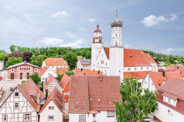 Historische Stadtkirche in Giengen an der Brenz